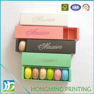 Custom Printed Paper Macaron Box with Sleeve pictures & photos