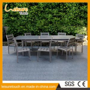 French Leisure Bistro Garden Outdoor Furniture Waterproof Polywood Powder Spraying Aluminum Dining Restaurant Chairs Tables Set pictures & photos