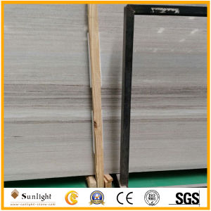 Hina White Marble, Wood Vein White Marble Slab, Crystal Wood Grain Marble pictures & photos