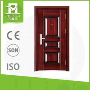 Luxury Design High Quality Low Price Single Double Exterior Security Steel Door pictures & photos
