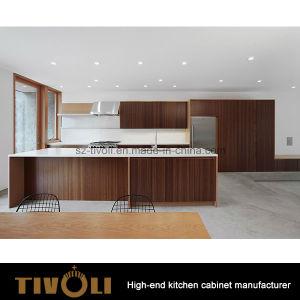 Natural Wood Veneer Kitchen Cabinets And Stone Contertops Tivo 0199V