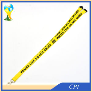 Printing Warning Slogan Logo Yellow Lanyard pictures & photos
