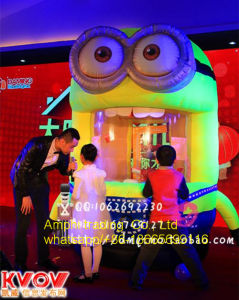 Inflatable Minions Crab Money Booth for Outdoor Advertisement