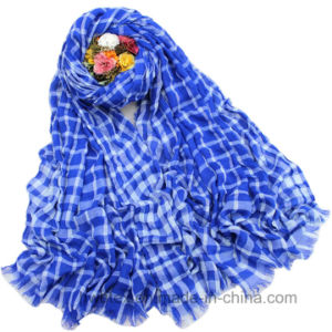 Fashion Tartan Check Woven Viscose Stole / Womne′s Scarf (HWBVS033) pictures & photos