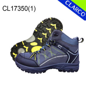 PU Leather Men Outdoor Hiking Safety Shoes with Rubber Sole pictures & photos