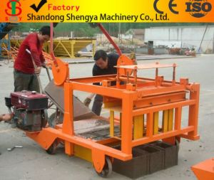 Shengya Block Machinery Qm4-45 Diesel Engin Hydraulic Block Making Machine pictures & photos