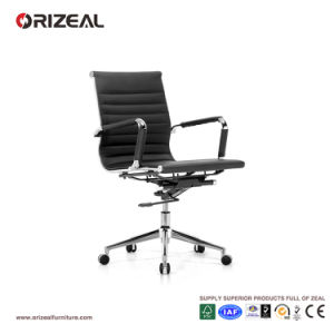 Orizeal Black Leather Office Chair, Designer Style Custom Swivel Chair (OZ-OCL004B) pictures & photos