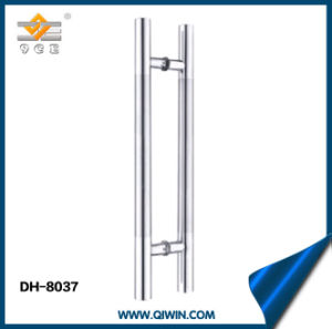 Stainless Steel Door Handle with Middle Satin Pull Handle pictures & photos