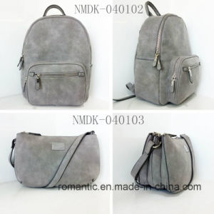 Promotional Lady PU Backpack Leather Big Bag (NMDK-040102) pictures & photos