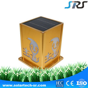 3.5wp DC Power Supply Outdoor Fence Solar Wall Mounted China Style LED Lamp pictures & photos