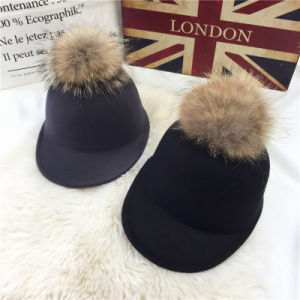 2017 Fur POM Beautiful Hats for Girls pictures & photos