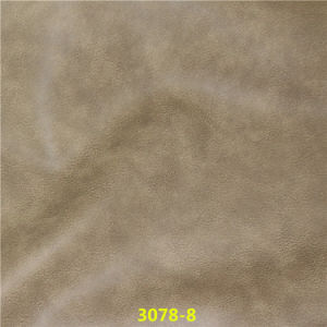 Exported Quality High Abrasion-Resistant Embossed Oily Synthetic PU Furniture Leather pictures & photos