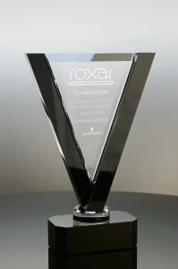Crystal Obelisk on Black Base Corporate Gifts for Outstanding Performance Awards Trophies (#5235, #5236, #5237) pictures & photos