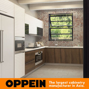 Oppein Modern Red Industrial High Glossy Lacquer Wood Kitchen Cbinet (OP16-L25) pictures & photos