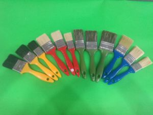 Lxxx Black Filaments Mix Bristle with Yellow Handle Painting Brush pictures & photos