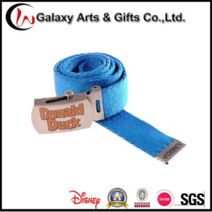 Military Duty Waist Army Webbing Belt with Custom Printed Metal Buckle