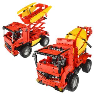 57351014W-2 in 1 RC Mixer Truck Building Blocks Kits 2.4G Engineering Model DIY Construction Toys pictures & photos