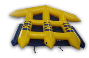 Yellow Color 2 Person Inflatable Towable Flying Fish Boat pictures & photos