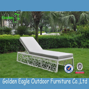 Special Hand Weaving Style Rattan Sun Lounger with Soft Cushion