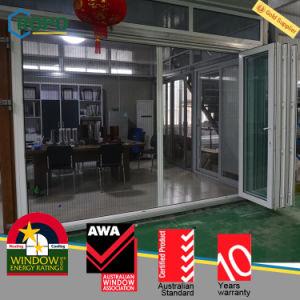 UPVC/PVC Outdoor Bifold Door with Retractable Screen pictures & photos
