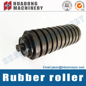 Rubber Covered Impact Conveyor Roller for Belt Conveyor pictures & photos