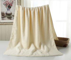Wholesale Cotton Ivory Bath Towel Plain Bath Towel with Dobby