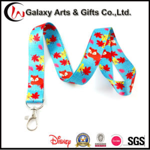 Customized ID Badge Holder Polyester Heat Transfer Printed Sublimation Lanyard