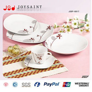 Factory New Design Round Color Circle 12PCS Porcelain Dinnerset pictures & photos