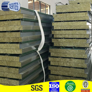 Construction material structural insulated panel PU-rockwool sandwich panel pictures & photos