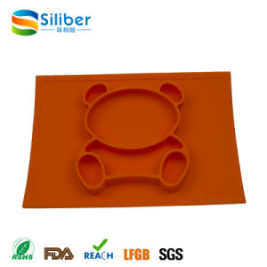 Wholesale Baby Feeding Silicone Placemat Plus Plate in One