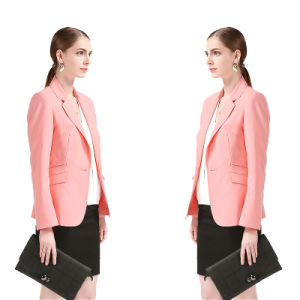 Business Style Office Ladies Jacket of Tr Fabric pictures & photos