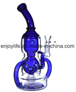 2017 Newest Blue Color Recycler Glass Water Pipe Hookah pictures & photos