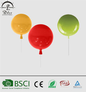 European Style Glass Red Balloon Indoor Wall Lighting pictures & photos