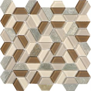 Hexagon Shape American Style Glass Mosaic Mix Stone pictures & photos