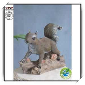 9.5 Inches Realistic Resin Squirrel Sculpture