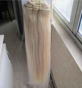 European Double Drawn Remy Virgin Machine Made Hair Weft