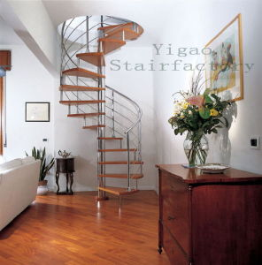 Spiral Staircase With Wood Steps (9002-13)