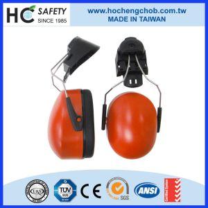 Popular Red Industrial Adjustable CE ANSI Helmet Earmuff