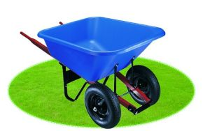 Blue Poly Tray and Wood Handles Wheelbarrow pictures & photos