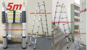3 Position Telescopic Ladder 5m (DLT708) pictures & photos