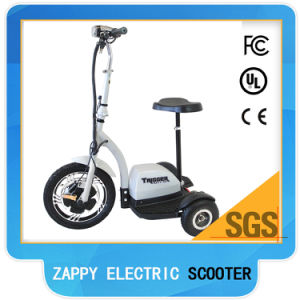 3 Wheel Electric Riding Scooter with Lazyback pictures & photos