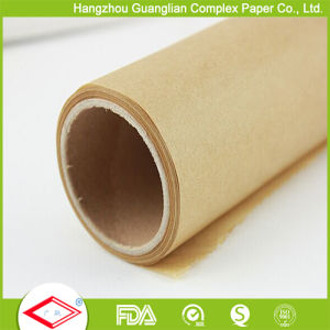 Custom Unbleached Brown Silicone Treated Baking Paper Roll From Factory pictures & photos