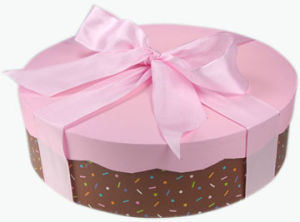 2014 High Quality Pink&Brown Colour Cake Box (YY-K006) pictures & photos