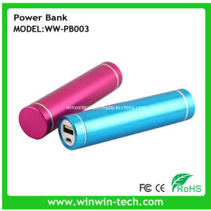 Multi-Colors Optional 2800mAh USB Tube Mobile Power Bank