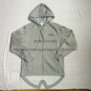 Fashion Classic Logo Longline Zip-up Coat with Zipper Fw-8626 pictures & photos