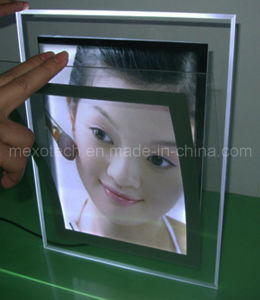 Desktop Crystal Advertising LED Light Box with Magnet (CST03-B-A4P) pictures & photos