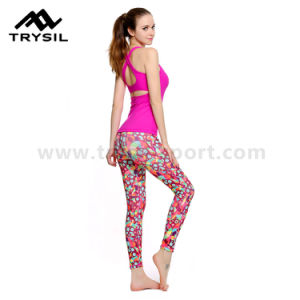 Sexy Leggings Women Yoga Wear Sport Pants Fitness Clothes Ladies Compression Pants Runing Comfortable Wear Soft Material pictures & photos