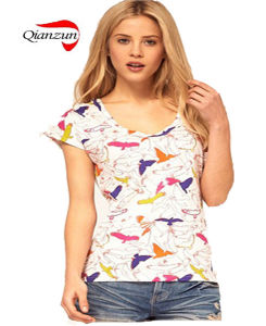 Woman Short Sleeve T-Shirt pictures & photos