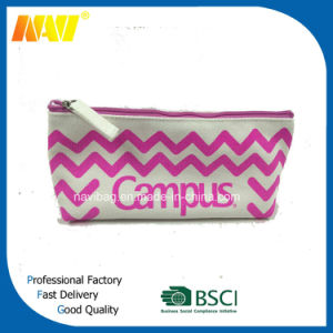 China Top Supplier Canvas Wave Printing Pencil Bag