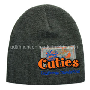 100% Acrylic Heathered Roll up Knitted Beanie (TRK3005) pictures & photos